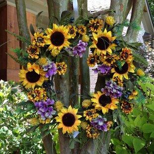 Front Door Wreaths Sunflower | Wayfair