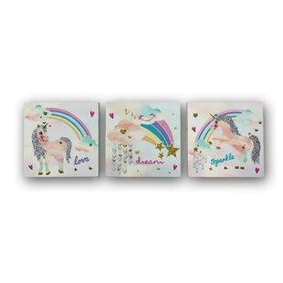 3 Piece Unicorn Canvas Art Set