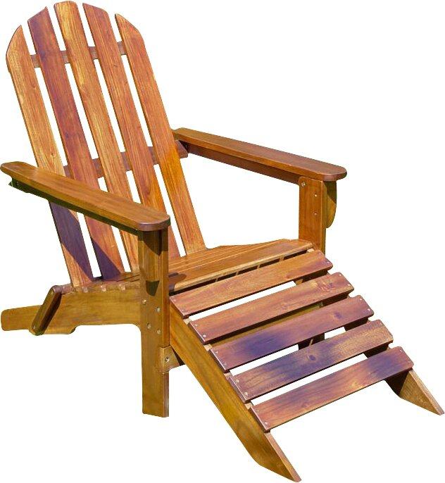 international caravan adirondack chair with ottoman reviews wayfair