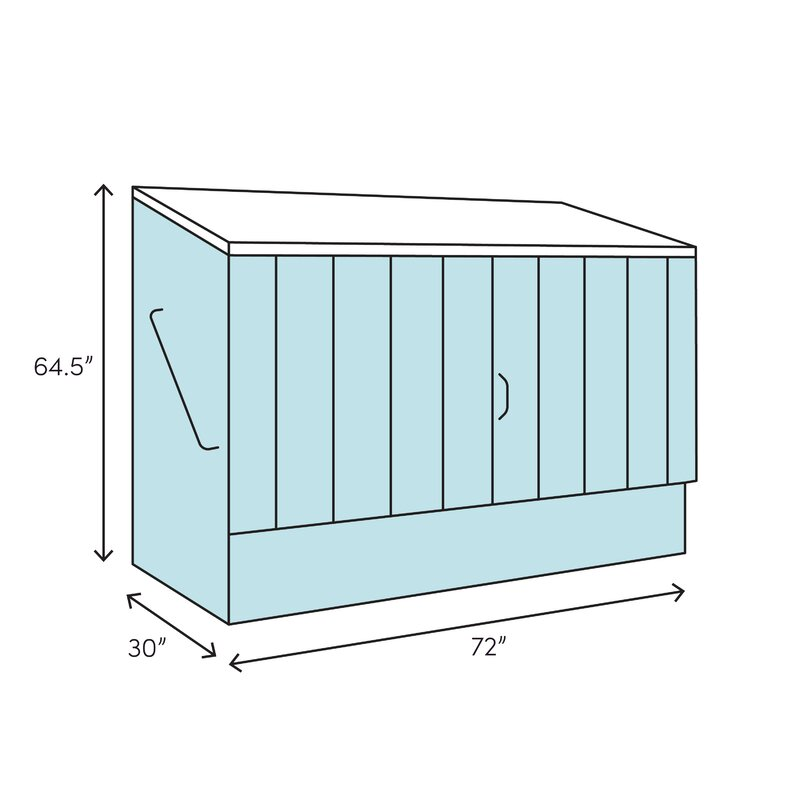 6 ft  W x 2 5 ft  D Wooden Horizontal Bike Shed