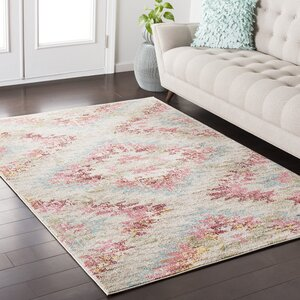 Nichole Blue/Red Area Rug