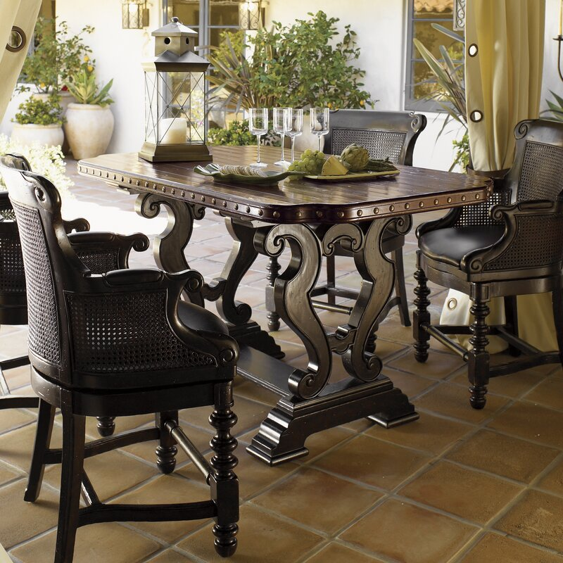 Tommy Bahama Home Kingstown Sienna Bistro Dining Table & Reviews ...