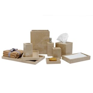 Kadyn Marble 9 Piece Bathroom Accessories Set