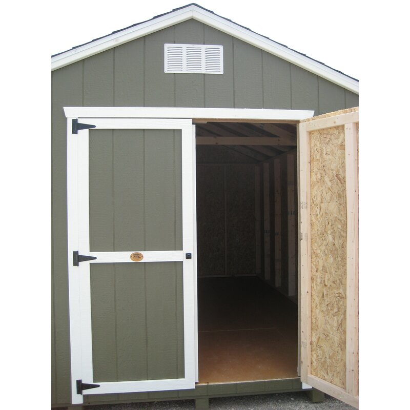 Value Gable Precut Kit Solid Wood Storage Shed