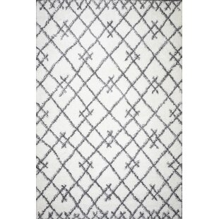 Read Reviews Robbins White Area Rug By Union Rustic