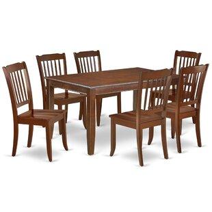 Kuebler 7 Piece Solid Wood Dining Set