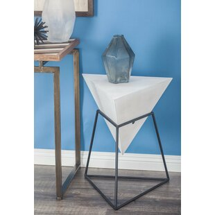 Mcniel Metal Triangle End Table