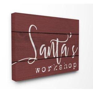 'Santa' Textual Art
