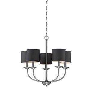 Antique pewter chandelier wayfair steuben brushed pewter 5 light drum chandelier aloadofball Images