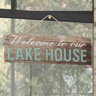 Welcome To Our Lake House Wood Wall Décor