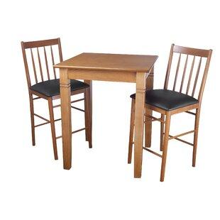 East Broadway 3 Piece Pub Table Set