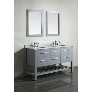 Cockrell 60 Double Bathroom Vanity Set with Mirror