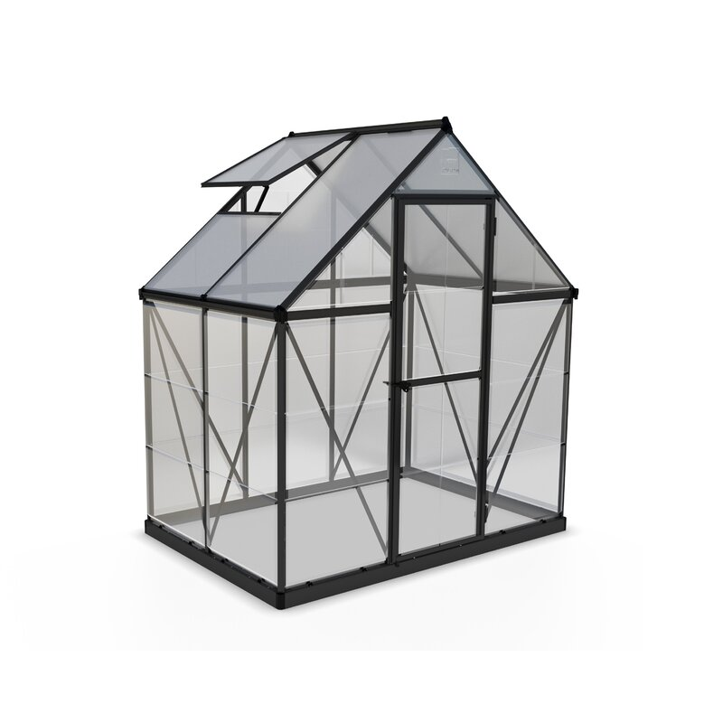 Hybrid 6 Ft  W x 4 5 Ft  D Polycarbonate Greenhouse