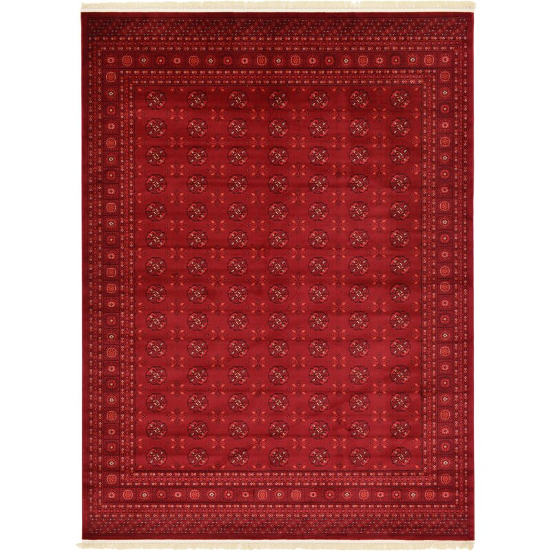 World Menagerie Kowloon Dark Red Area Rug Amp Reviews Wayfair