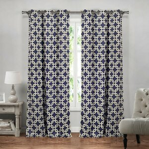 Thornsberry Geometric Blackout Grommet Curtain Panels (Set of 2)