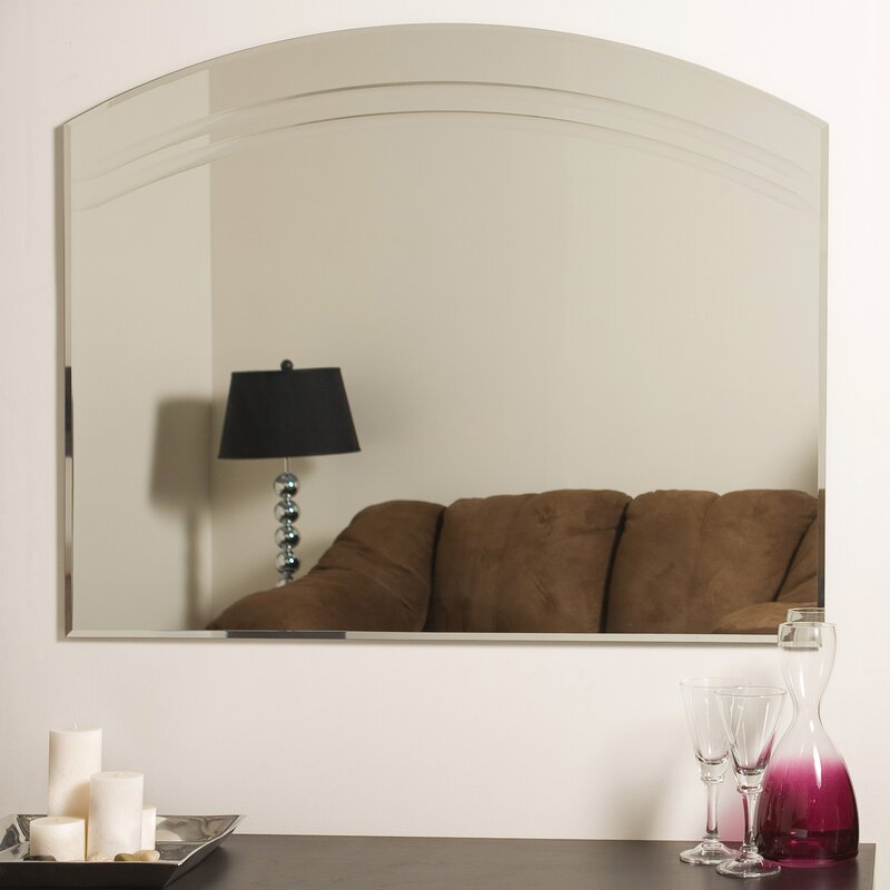 Rosecliff Heights Wallingford Large Frameless Wall Mirror Reviews