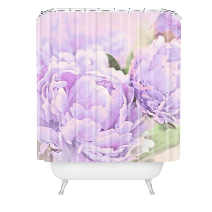 East Urban Home Lisa Argyropoulos Lavender Peonies Shower Curtain