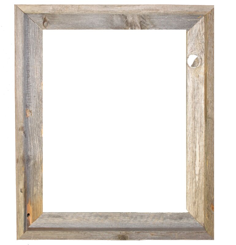 Union Rustic Banjo Rustic Reclaimed Barn Wood Open Picture Frame