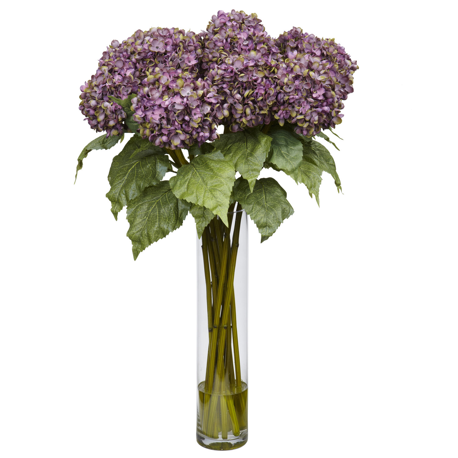 Nearly natural hydrangea silk flower arrangement in purple reviews nearly natural hydrangea silk flower arrangement in purple reviews wayfair mightylinksfo