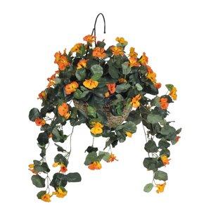 Artificial Nasturtium Floral Arrangement in Basket