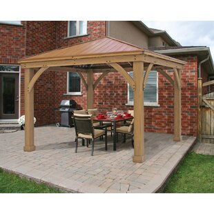 12 Ft W X D Solid Wood Patio Gazebo