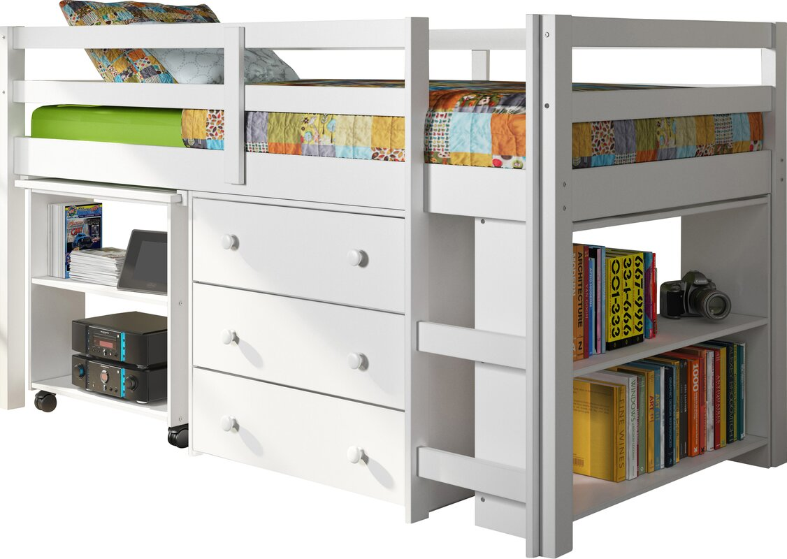 Viv Rae Zechariah Twin Low Loft Bed With Storage
