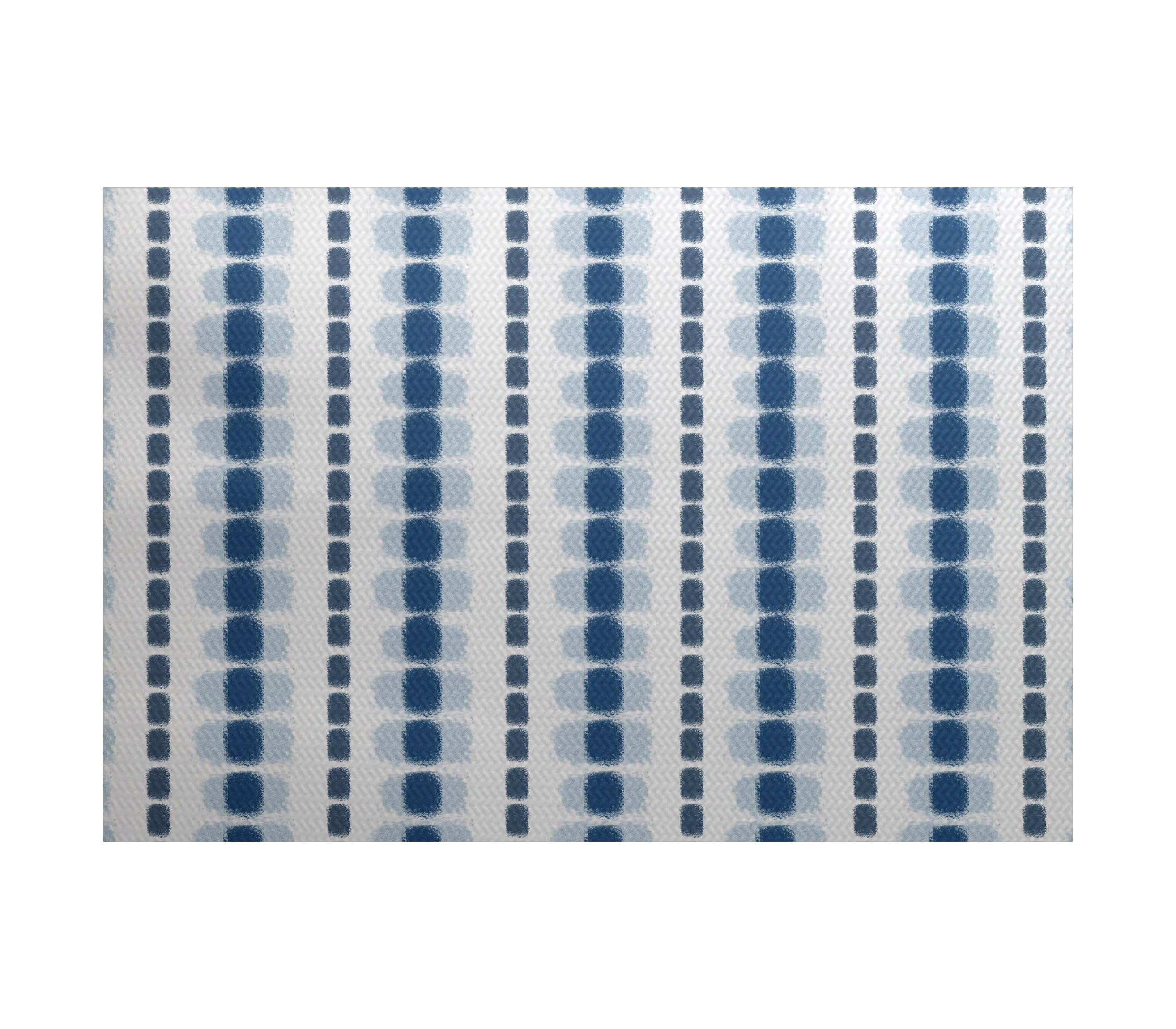 Bronx Blue Bedroom Project: Ivy Bronx Leal Flatweave Blue/White Area Rug