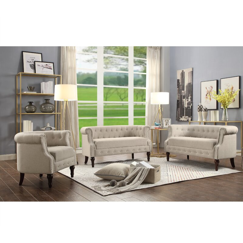 Ordinaire Celestia 3 Piece Living Room Set