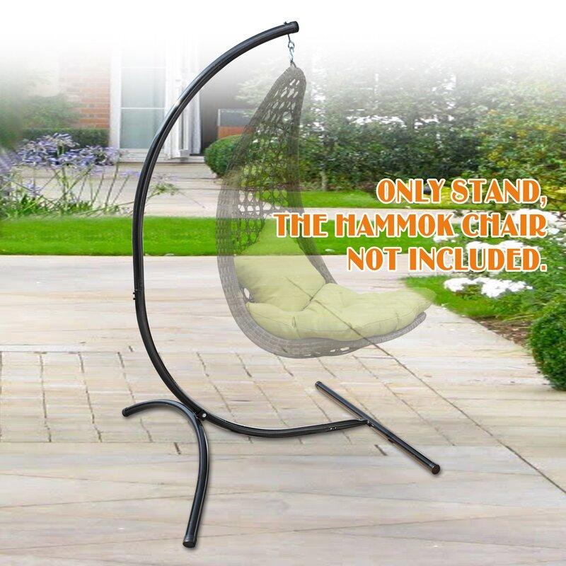 Freeport Park Bell Hanging C-Frame Swing Holder Metal Hammock Chair Stand u0026 Reviews | Wayfair & Freeport Park Bell Hanging C-Frame Swing Holder Metal Hammock Chair ...