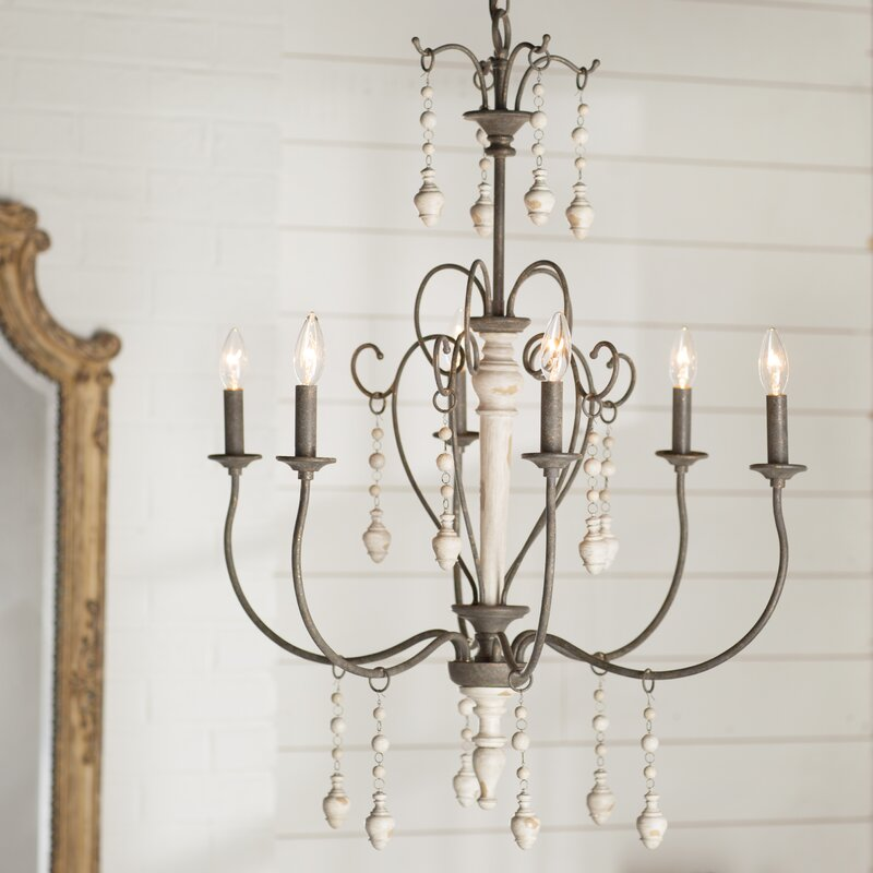 Lark manor bouchette traditional 6 light candle style chandelier bouchette traditional 6 light candle style chandelier aloadofball Choice Image