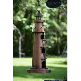 Hanging Lighthouse Decorative Bird Feeder