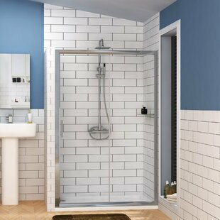 Grand Single 1850 mm x 1400 mm Sliding Framed Shower Door by Belfry Bathroom