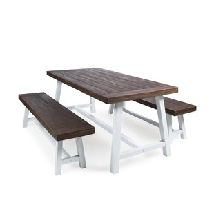 Farmhouse Table And Bench Set Wayfair