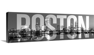 U0027Boston Skyline, Transparent Overlayu0027 Graphic Art Print
