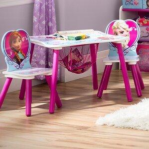 Superb Disney Frozen Kids 3 Piece Table And Chair Set