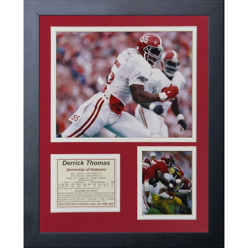 d3ae2e81a45 Legends Never Die Derrick Thomas - Alabama Framed Memorabilia