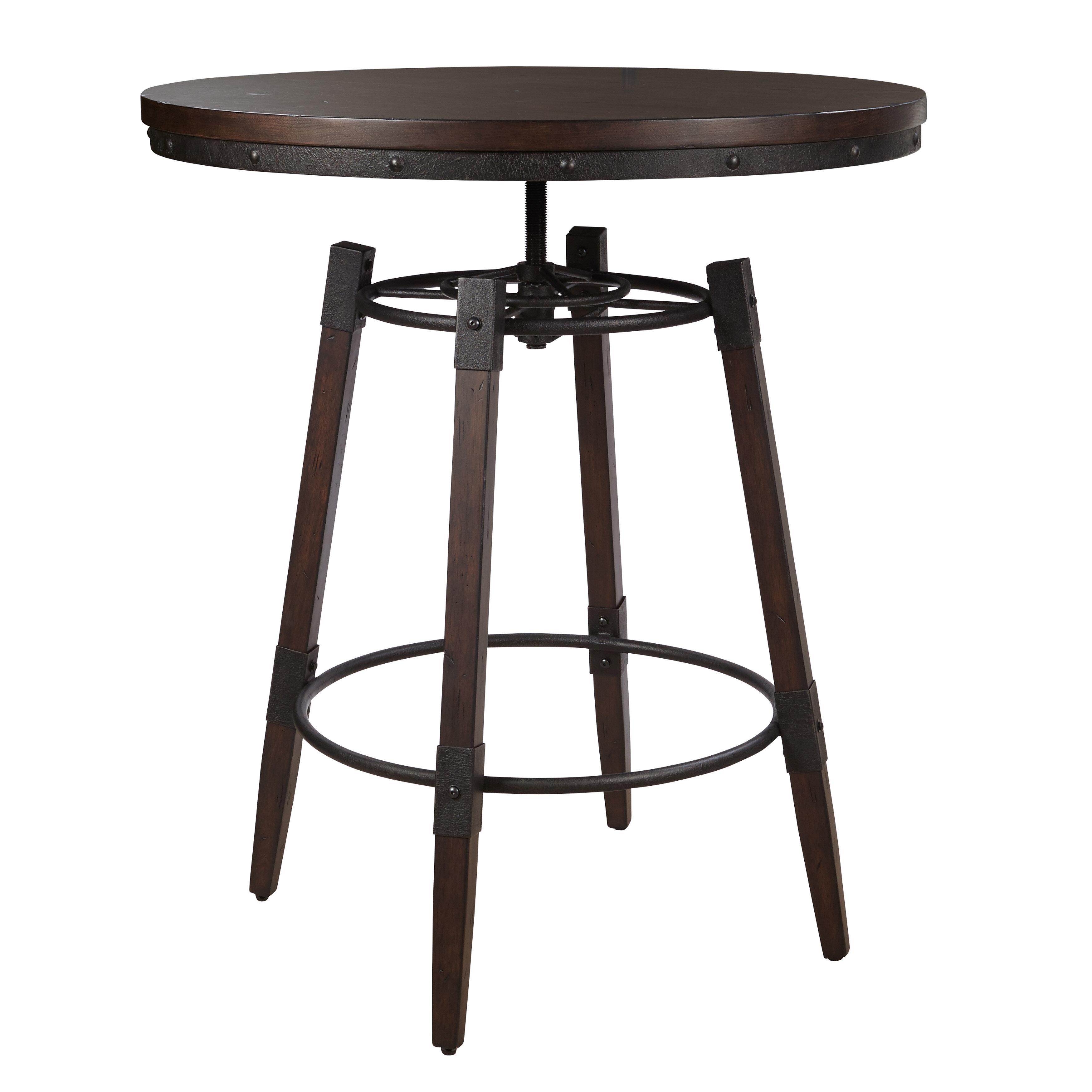 Williston forge bingaman vintage adjustable height bar table williston forge bingaman vintage adjustable height bar table reviews wayfair watchthetrailerfo