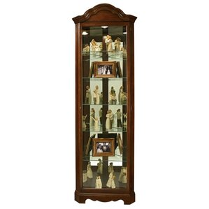 Murphy Lighted Corner Curio Cabinet by Ho..