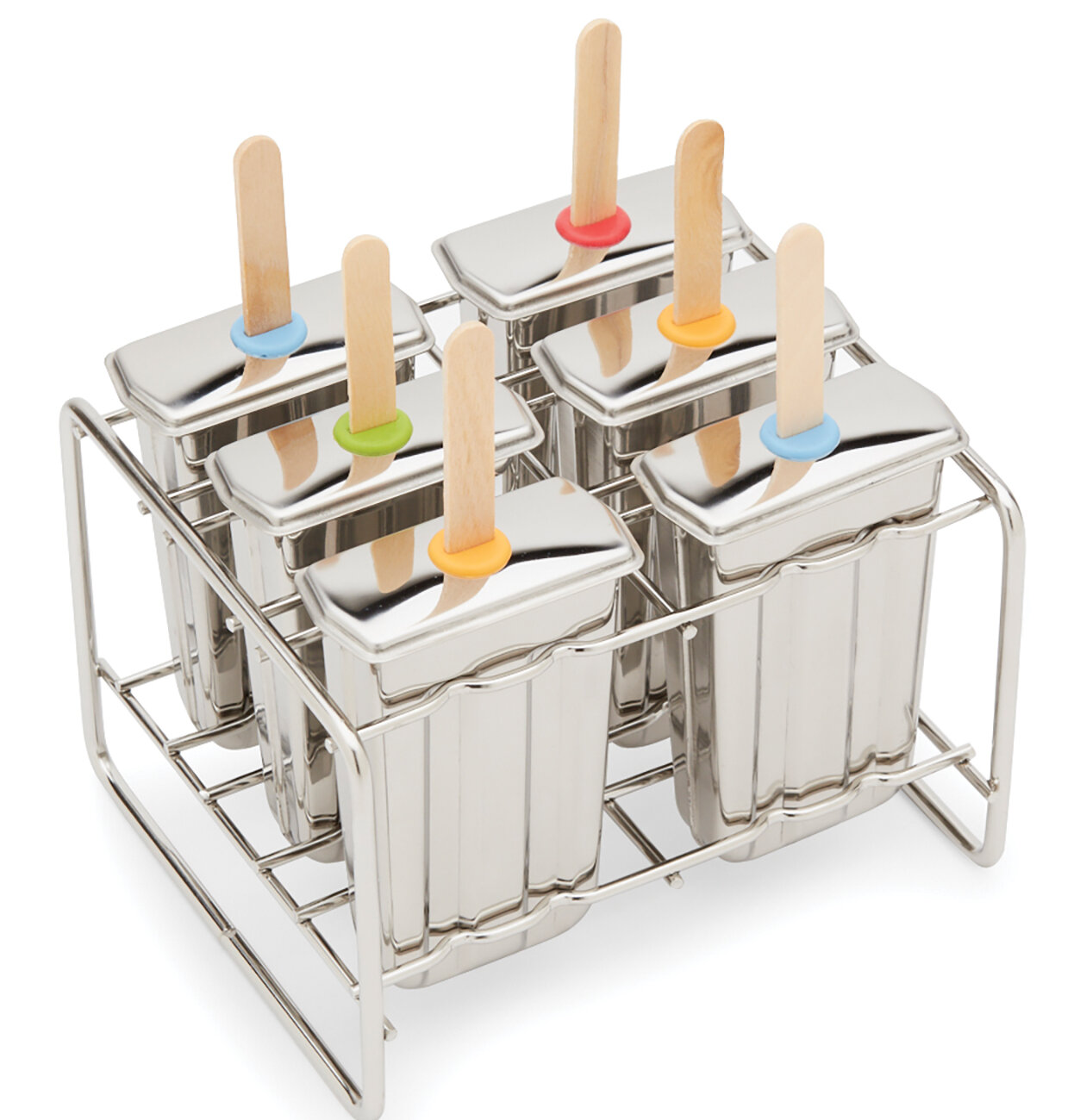 Fox Run Brands 18/8 Stainless Steel BPA-Free Ice Pop Maker