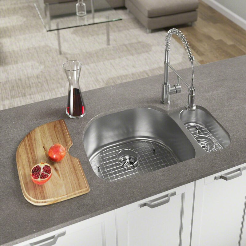 stainless steel 32   x 21   double basin undermount kitchen sink with additional accessories mrdirect stainless steel 32   x 21   double basin undermount kitchen      rh   wayfair com