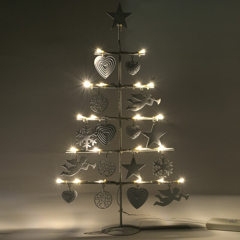 The Seasonal Aisle Metal Christmas Tree Light Lamp