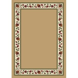 Collinsville Symphony Wheat Solid Area Rug By Highland Dunes
