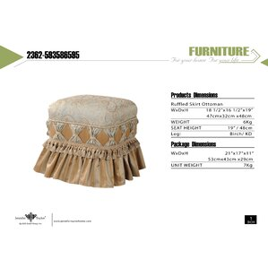 Primrose Traditional Decorative Ottoman by Astoria Grand