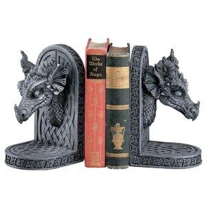 2-tlg. Buchstütze Grey Friar Dragon von Design ..