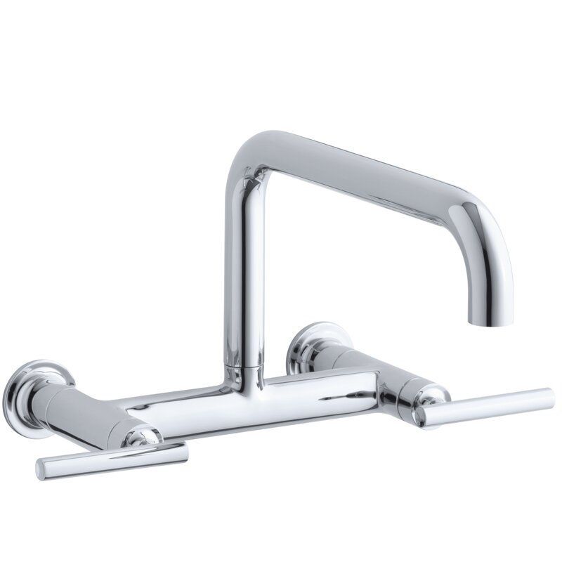 Wall Mounted Kitchen Faucet You\'ll Love | Wayfair