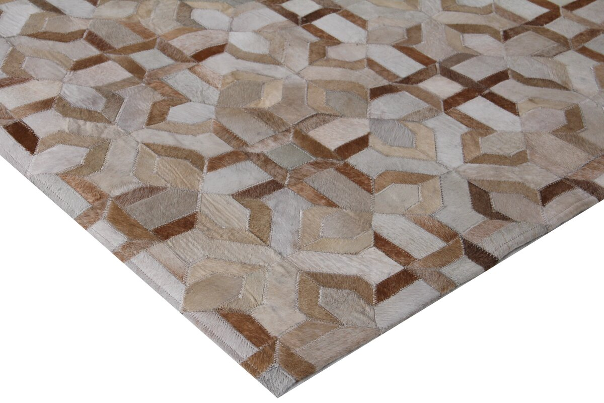 Exquisite Rugs Natural Hide Beige/Ivory Area Rug & Reviews