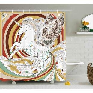 Unicorn Ancient Decor Shower Curtain Hooks