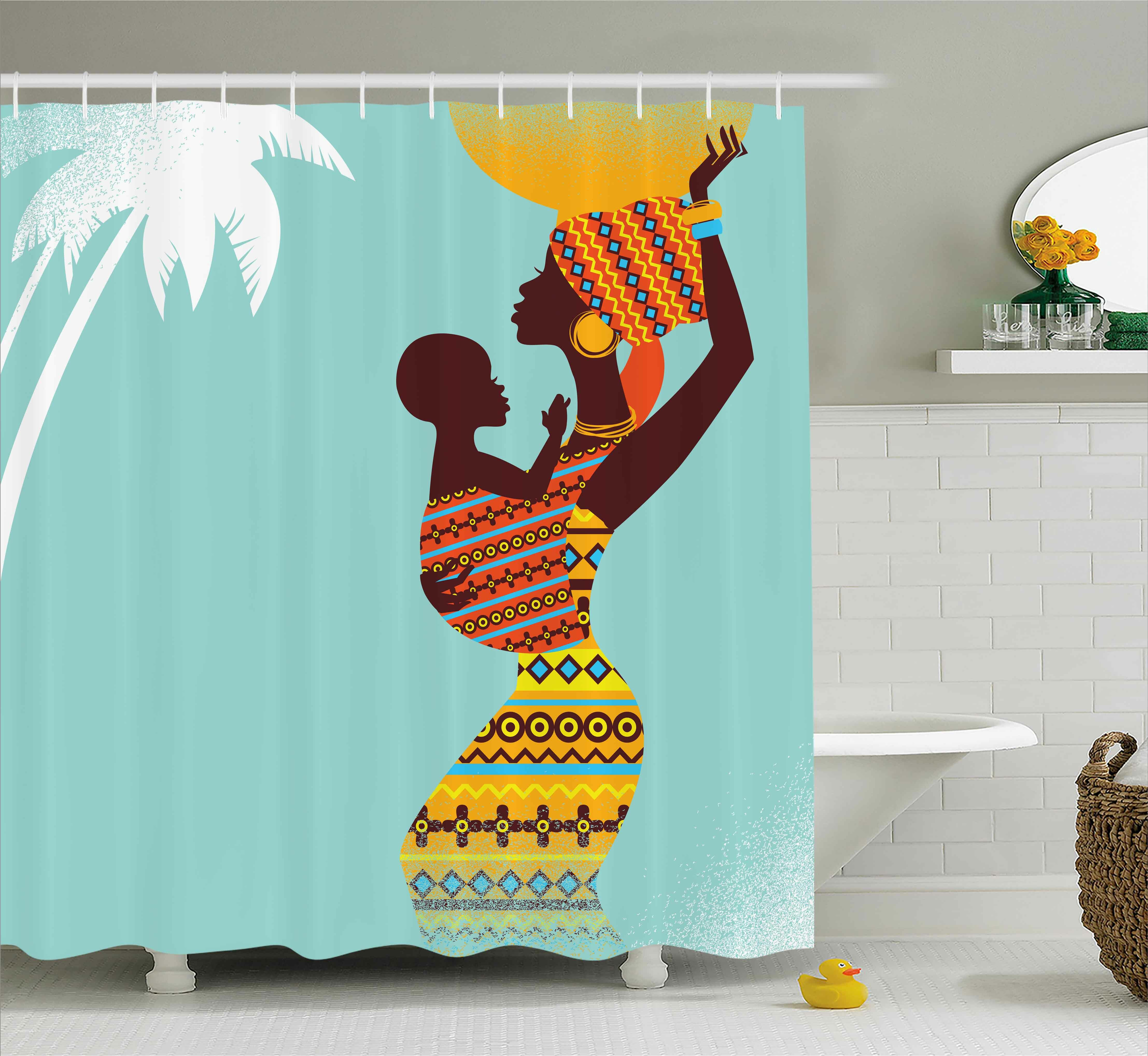 Ebern Designs Houston African Ethnic Mother Print Shower Curtain Reviews