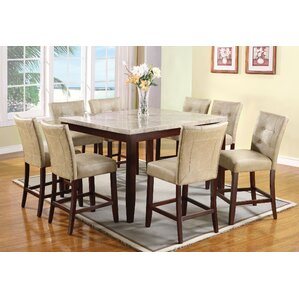 Estefana 9 Piece Counter Height Dining Set by Red Barrel Studio