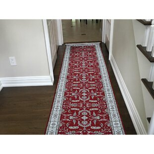 One Of A Kind Kidd Art Hand Knotted Runner 2 6 X 12 Silk Red Beige Area Rug